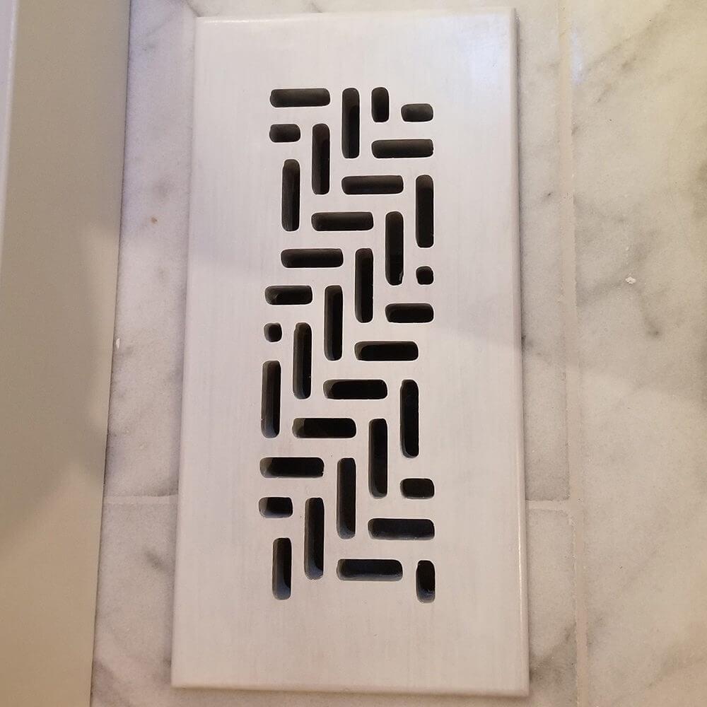 Maple Vent Cover for Tile Floor