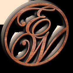 Logo - Cherry Wood - Initials - Standard