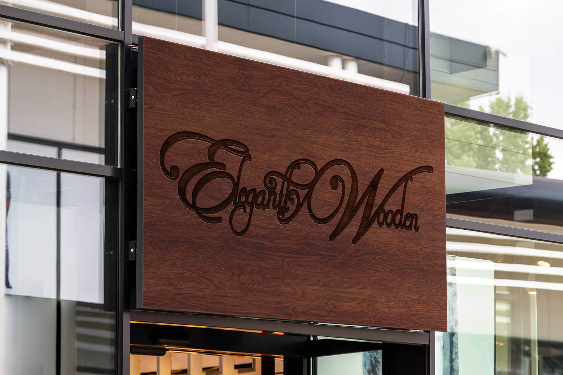 We make custom wood signs for businesses.