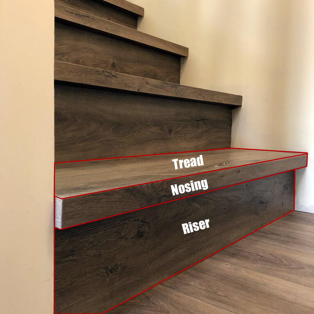 This is a vinyl stair nosing installation we did in West Kelowna.